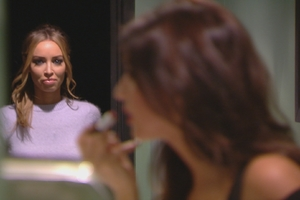 Lauren Pope bumps into Lucy Mecklenburgh in the toilets while on a date with her ex-Mario Falcone in TOWIE