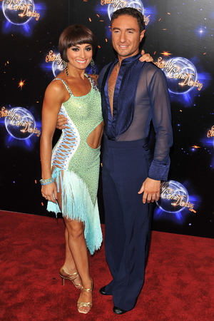 Flavia Cacace and Vincent Simone Strictly Come Dancing launching event held at the BBC Studios. Date Created : 09/07/2011 Object Name : Flavia Cacace and Vincent Simone Copyright Notice : Daniel Deme / WENN.com