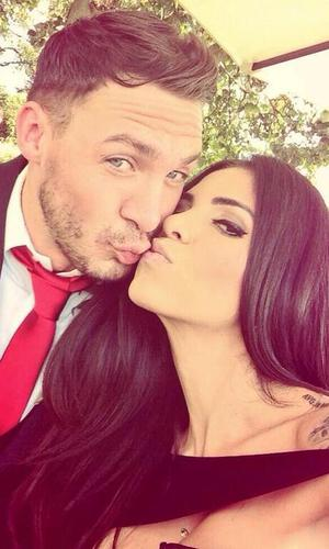 Kirk Norcross and Cami Li attend a friend's wedding - 5 October 2013