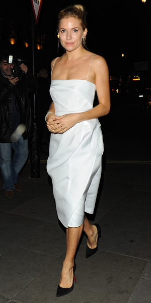 Sienna Miller The BFI gala dinner & auction held at 8 Northumberland Avenue, London - 8 October 2013