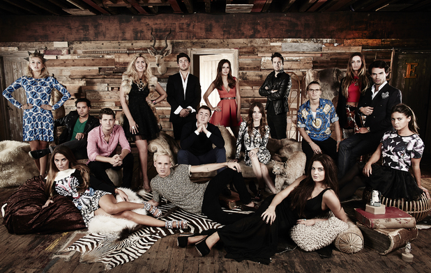 Made In Chelsea- series six: Andy Jordan, Binky Felstead, Cheska Hull, Fran Newman, Francis  Boulle, Jamie Laing, Louise Thompson, Lucy Watson, Phoebe Lettice-Thompson, Oliver Proudlock, Rosie Fortescue, Spencer Matthews and Stevie Johnson