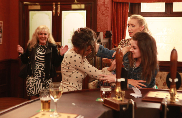 Corrie, Kylie and Tina fight, Mon 14 Oct