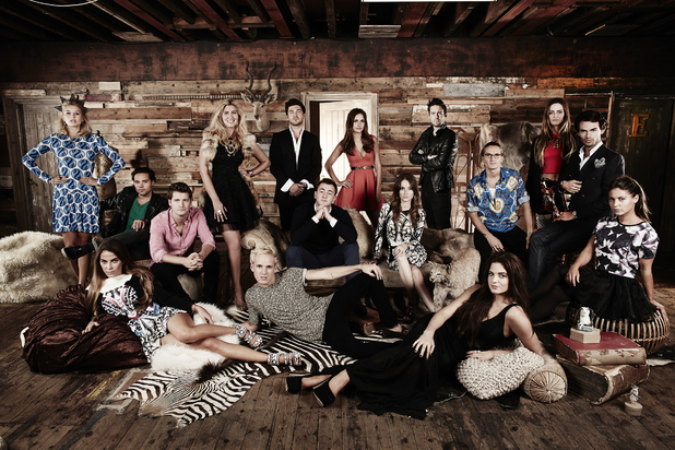Made In Chelsea, E4, full cast shot, Monday nights.