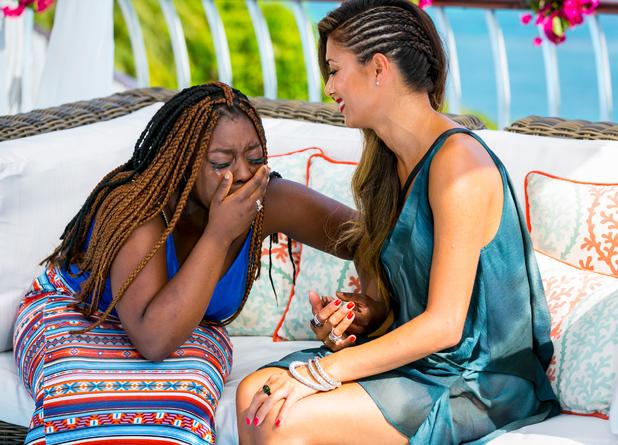 The X Factor - Contestant Reaction Shots - Hannah Barrett and Nicole Scherzinger