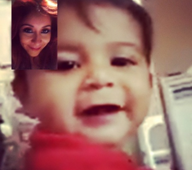 Snooki FaceTimes with her son Lorenzo while filming Dancing With The Stars - 8 October 2013