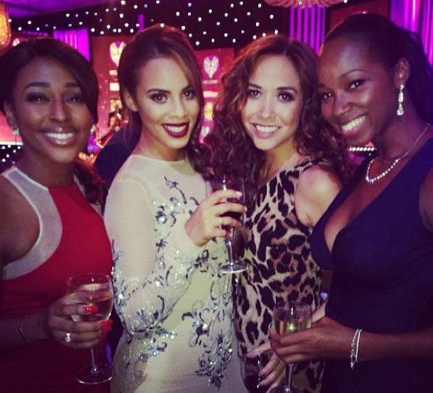 Myleene Klass hangs out with Rochelle Humes, Jamelia and Alexandra Burke - 7 October 2013