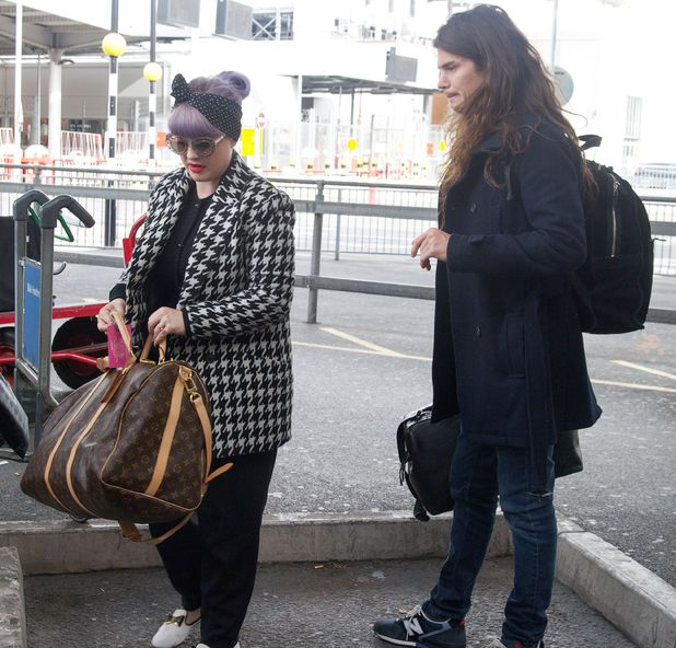 Sharon Osbourne, Kelly Osbourne and Matthew Mosshart at Heathrow Airport, London, Britain - 11 Oct 2013