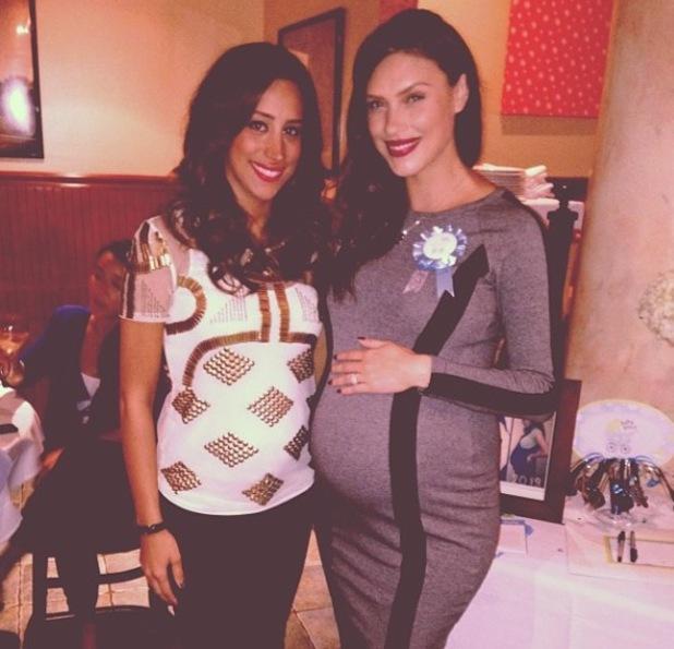Pregnant Danielle Jonas attends friend's baby shower - 7 October 2013