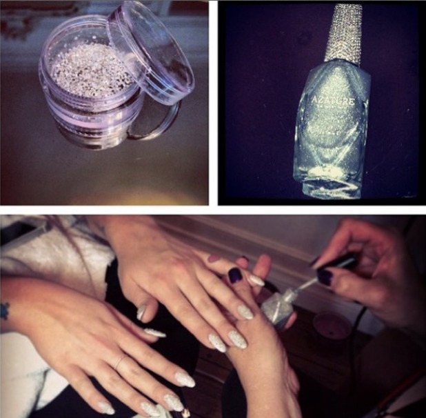 Kelly Osbourne's million dollar diamond Azature manicure, 9 October 2013