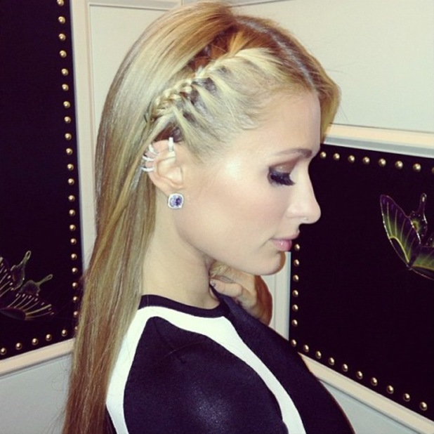 Paris Hilton wears a French braid while celebrating Nicky Hilton's birthday in Las Vegas - 6 October
