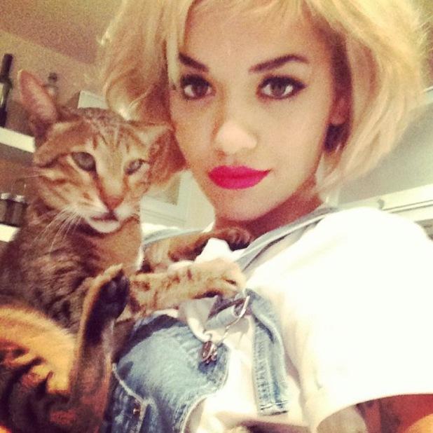 Rita Ora Instagram - campaign shoot for Rimmel London make-up range, 8 October 2013