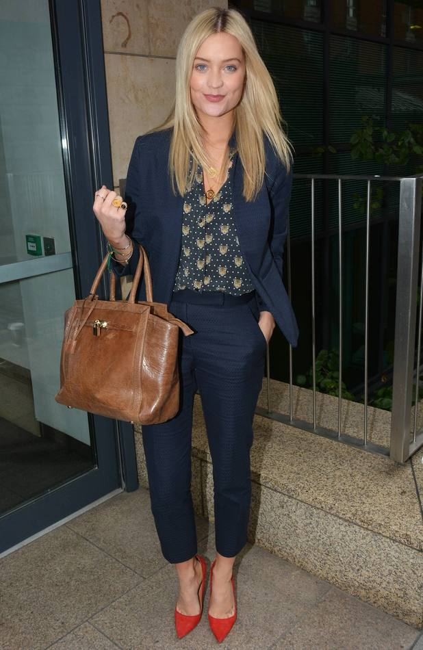 Laura Whitmore on Today FM in Dublin, Ireland - 7 October