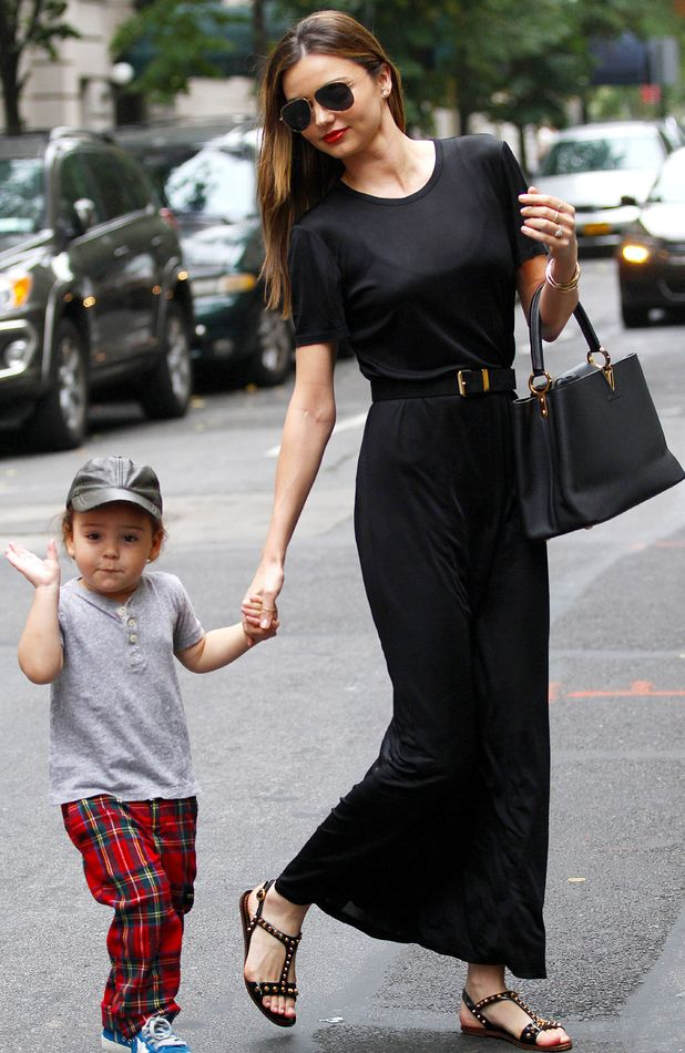 Miranda Kerr and Flynn Bloom out and about in New York, America - 06 Oct 2013