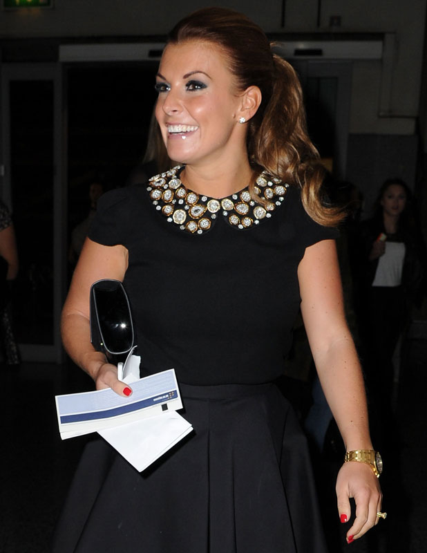 Coleen Rooney at a Bruno Mars concert in Manchester, 5 October 2013