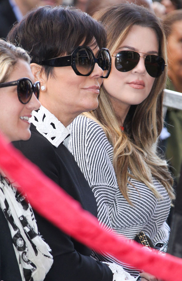 Kenneth 'Babyface' Edmonds honoured with a star on the Hollywood Walk of Fame, Los Angeles, America - 10 Oct 2013 Kris Jenner, Khloe Kardashian