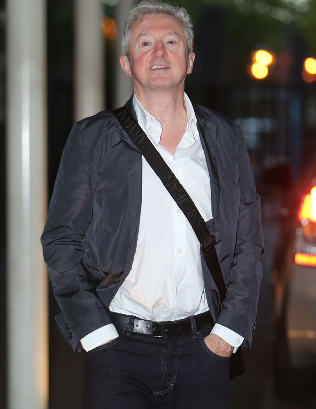 Louis Walsh outside the ITV studios, 10 October 2013