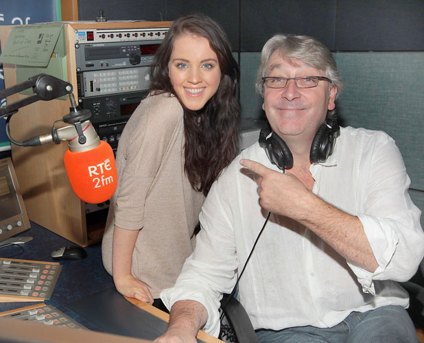 Melanie McCabe at the Rte 2fm Radio Studios in Donnybrook Dublin, where she talked about her expericene on the 'X Factor' to Colm Hayes, 7 October 2013