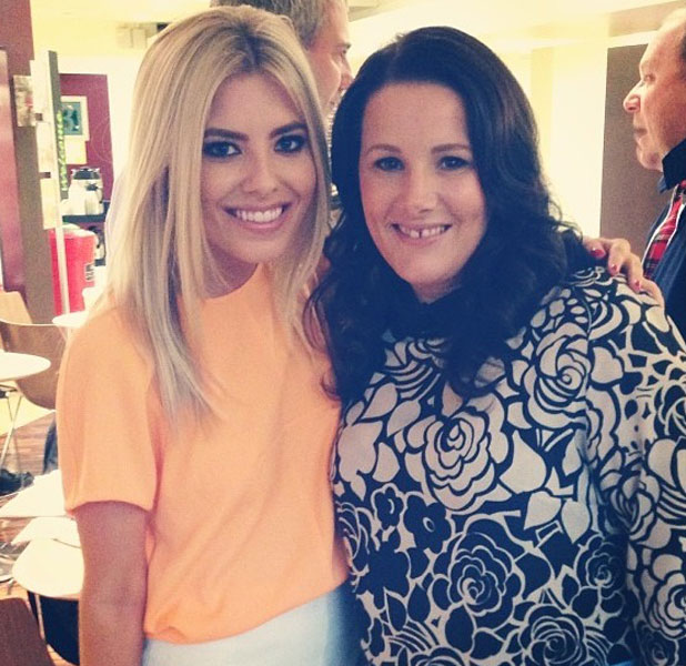 Mollie King from The Saturdays meets Sam Bailey from X Factor, 7 October 2013