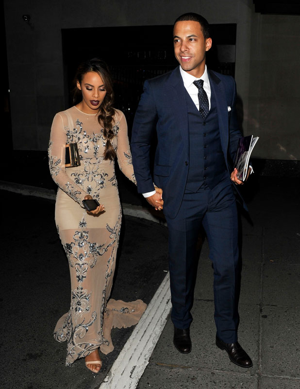 Rochelle Humes, The Saturday at arriving back at the hotel before heading home after the Pride of Britain Awards, 7 October 2013