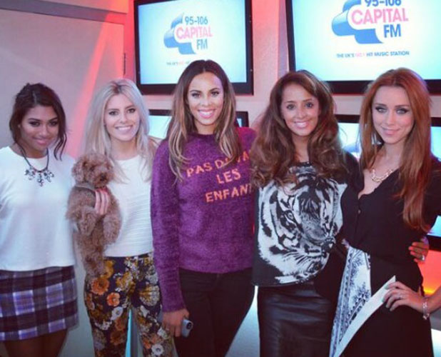The Saturdays at Capital FM studios in London, 6 October 2013