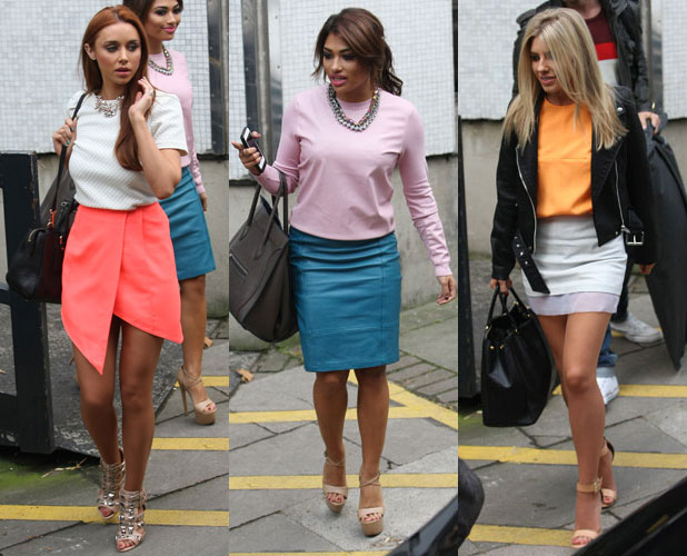 Saturdays at ITV studios in London: Una Healy, Vanessa White and Mollie King, 7 October 2013