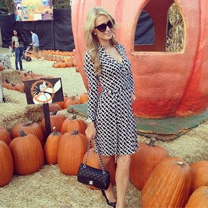 Paris Hilton visits Mr Bones Pumpkin Patch in West Hollywood, Oct 18 2013