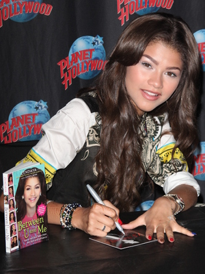 Zendaya at Planet Hollywood Times Square to Sign Copies of Her New Book Between U and Me and Her Debut Self Titled Album Zendaya, 14 October 2013
