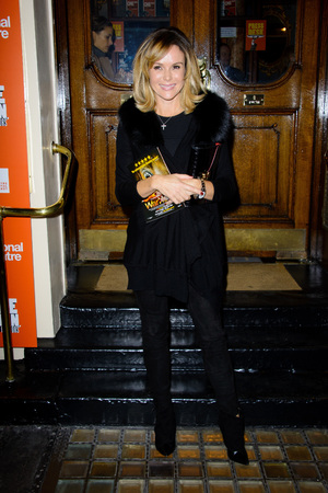 Celebrities at 'One Man, Two Guvnors' at Theatre Royal Haymarket' - Amanda Holden 17.10.2013