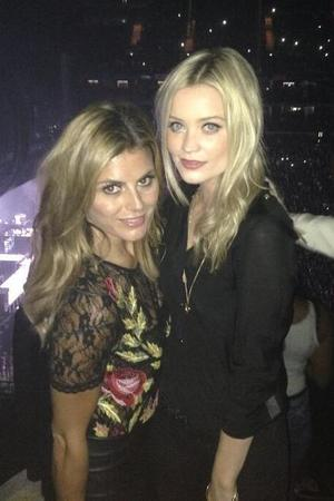 Zoe Hardman and Laura Whitmore at Jay-Z's London concert