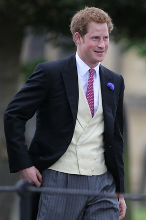 Wedding of Lady Melisa Percy and Thomas van Straubenzee at the church of St Michael's. Prince Harry. 21.6.2013
