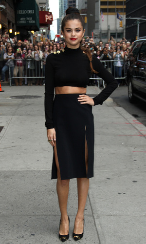 Selena Gomez at the Ed Sullivan Theater for the the 'Late Show with David Letterman - New York 17.10.2013