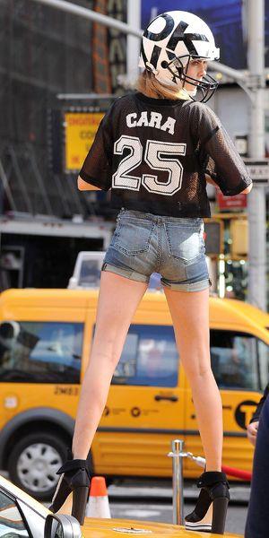 Cara Delevingne DKNY photoshoot, New York, America - 14 Oct 2013