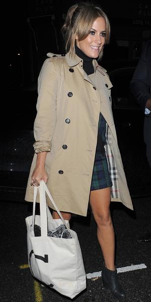 Caroline Flack arrives at the Riverside studios to film Celebrity Juice - 16 October 2013
