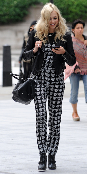 Fearne Cotton arriving at the Radio 1 studio in London, 11 September 2013