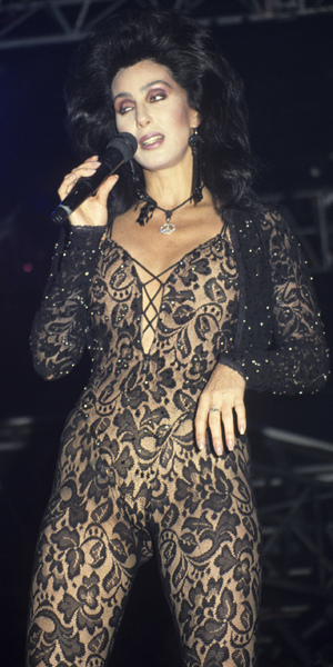 Cher performing live at Wembley Arena in her heyday
