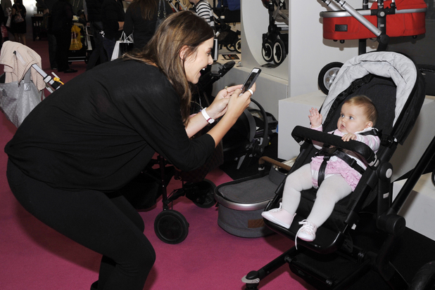 Imogen Thomas and Ariana Siena at Baby and Toddler Show, Bluewater, October 2013