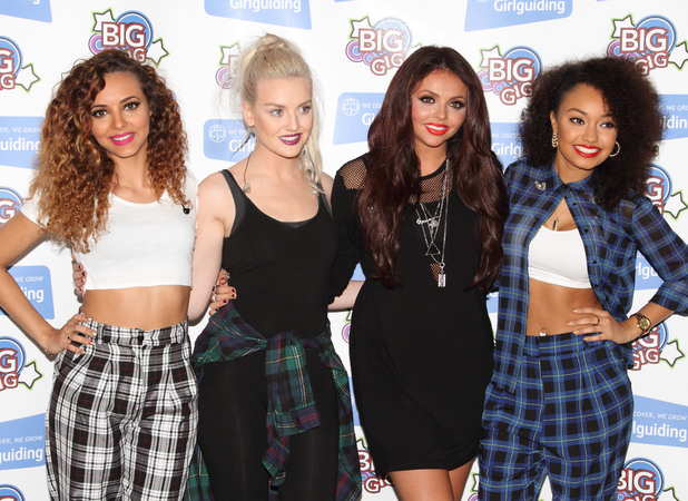 Little Mix, Perrie Edwards, Leigh-Anne Pinnock, Jade Thirlwall, Jesy Nelson - Girlguiding Big Gig Press Room at Wembley Arena, 12 October 2013