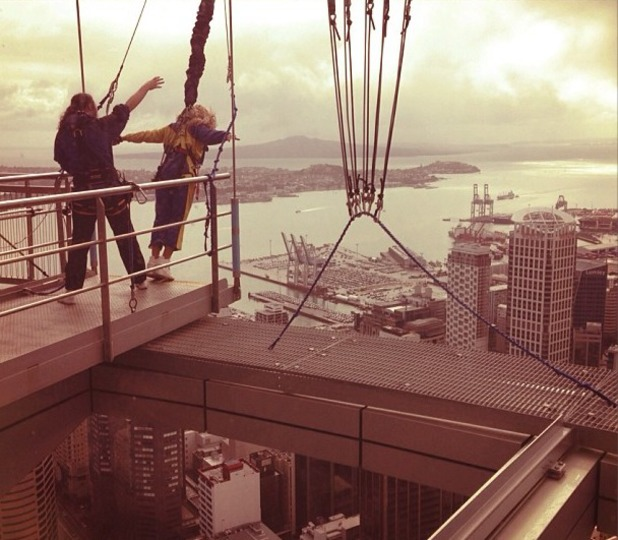 Beyonce Knowles prepares to freefall from Auckland's Sky Tower in Instagram picture, October 19 2013