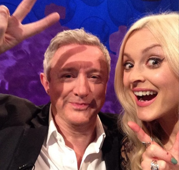 Louis Walsh joins Fearne Cotton on set of Celebrity Juice - 16 October 2013