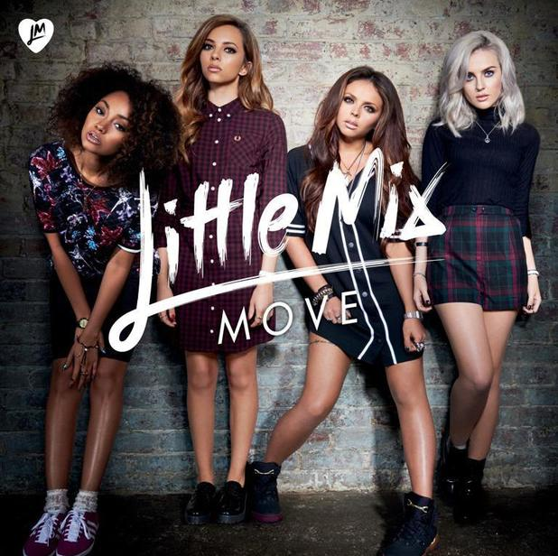 Perrie Edwards, Jesy Nelson, Leigh-Anne Pinnock, and Jade Thirlwall - Little Mix - new artwork for single, Move.