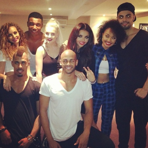 Little Mix, Perrie Edwards, Jesy Nelson, Leigh-Anne Pinnock, Jade Thirlwall - Instagram backstage Girlguiding Big Gig, Wembley Arena, London, Britain - 12 Oct 2013