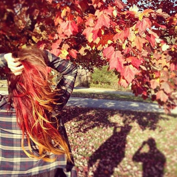 Vanessa Hudgens Instagram new hair - October 2013