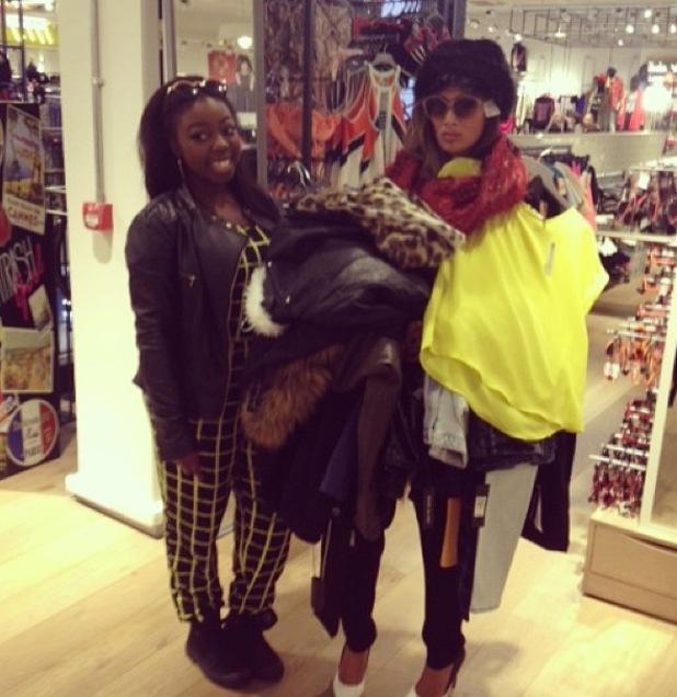 X Factor's Hannah Barrett and Nicole Scherzinger go shopping in River Island - 15.10.2013