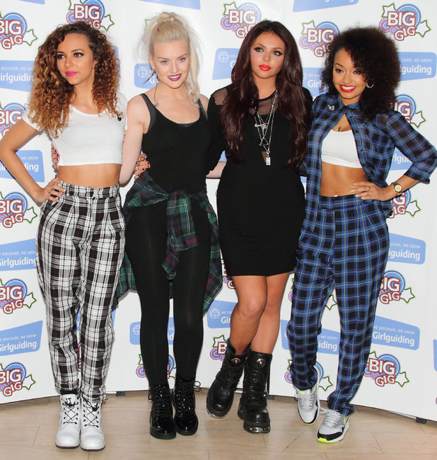 Little Mix, Perrie Edwards, Jesy Nelson, Leigh-Anne Pinnock, Jade Thirlwall, Girlguiding Big Gig Press Room at Wembley Arena - 12 October 2013