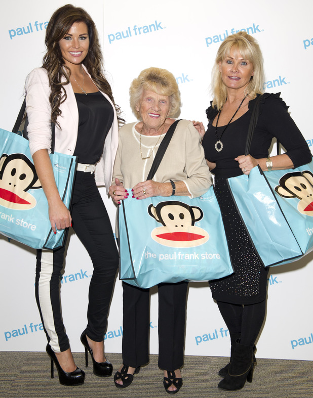 Jessica Wright, Carol Wright and Nanny Pat at Paul Frank children's clothing launch - 15 October 2013