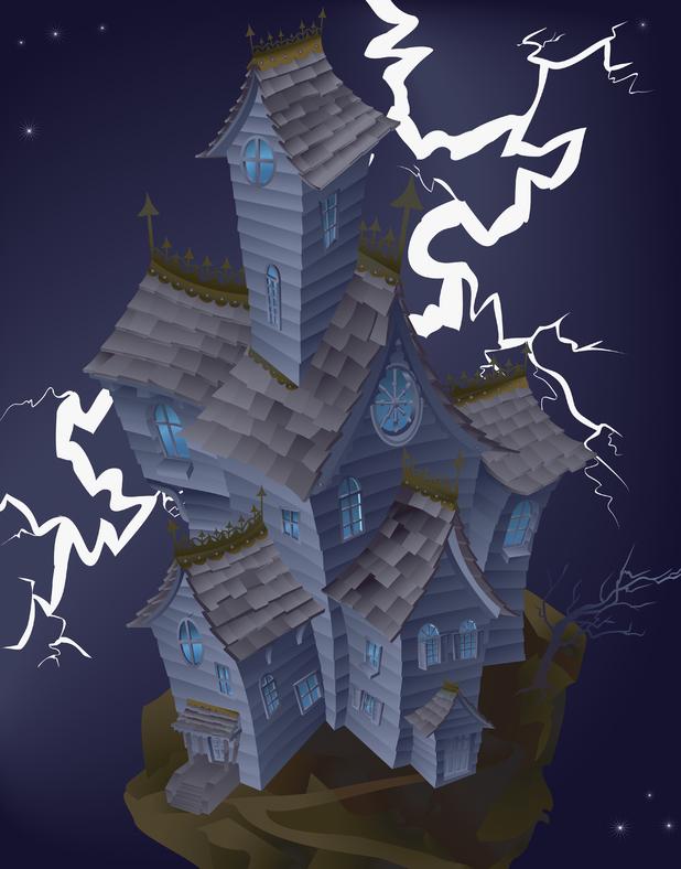 Illustration of haunted house 2009