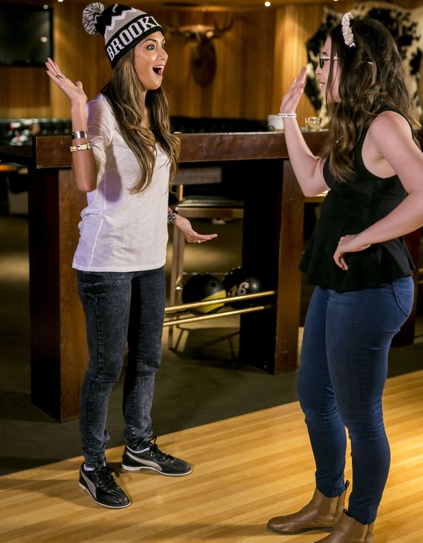 'The X Factor' TV Programme, Nicole Scherzinger and Abi Alton go bowling, London, Britain - 15 Oct 2013