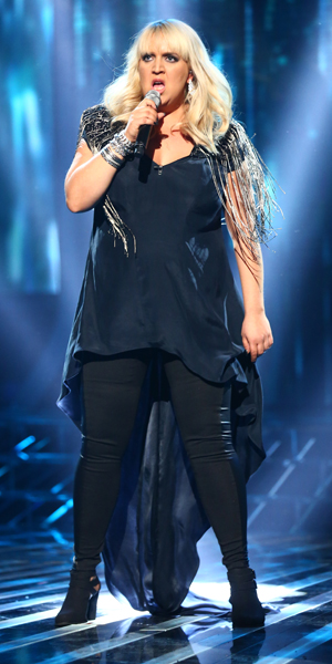Shelley Smith on X Factor Live Show 12 October 2013