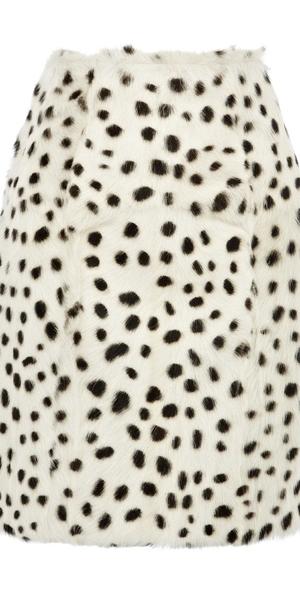 spot faux fur skirt, £58