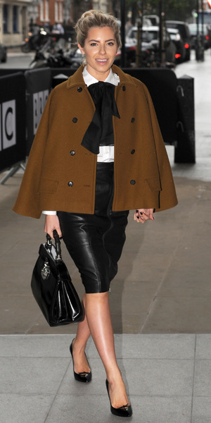 Celebrities seen at the BBC Radio 1 studios. PersonInImage:	The Saturdays, Mollie King Date Created : 10/22/2013 Location : London, United Kingdom